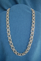 Silver and Gold Chain Maille Necklace (thumbnail)