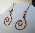 Copper Swirl Earrings (thumbnail)