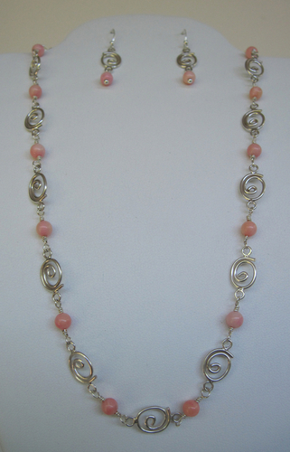 Coral and Sterling Silver Necklace