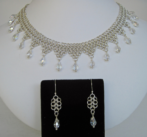 Sterling and Crystal Chain Maille