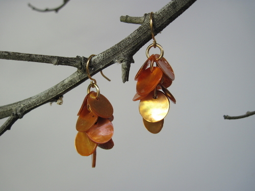 Bronze Shell Earrings