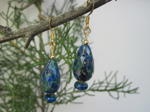 Azulite-Malachite Earrings
