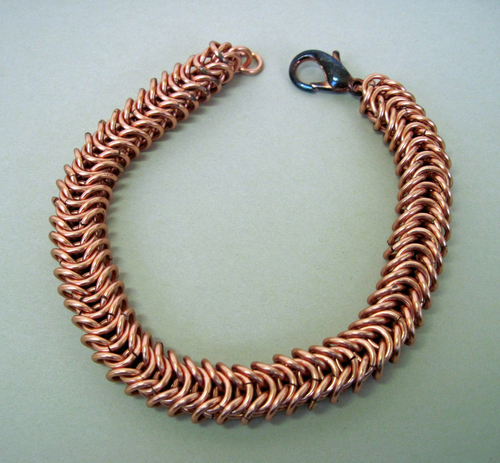 Men's Copper Chain Maille Bracelet