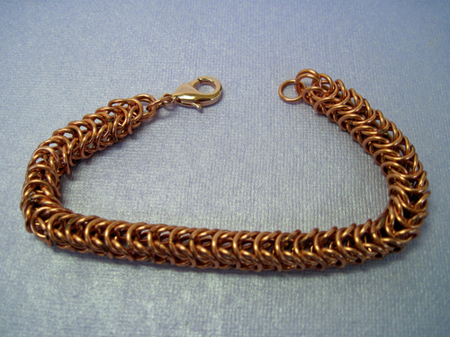 Women's Copper Chain Maille Bracelet