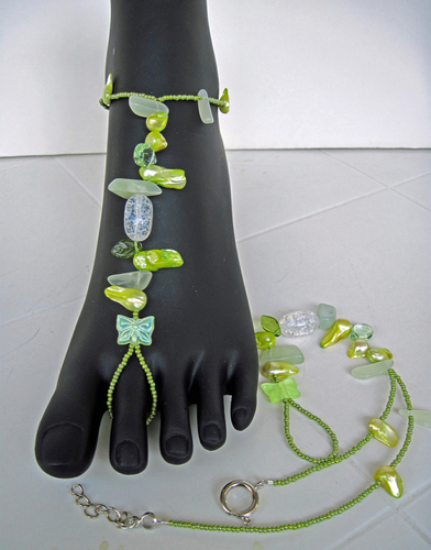 Lemon and Green Barefoot Sandals