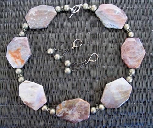 Fancy Jasper and Pyrite Set
