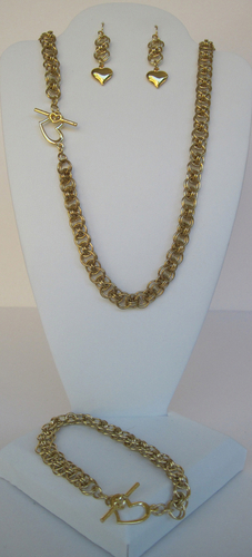 Chain Maille Heart Set
