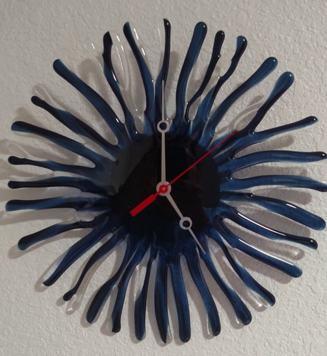 Indigo Coral Clock