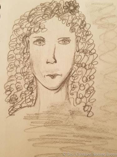 Curly Lady Sketch