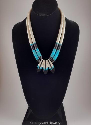 Hummingbird Tail Necklace #2 by Rudy Coriz Jewelry