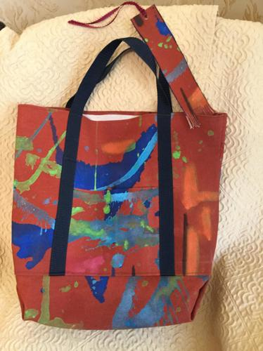 Large bag w bookmark by Rosemary Curtin