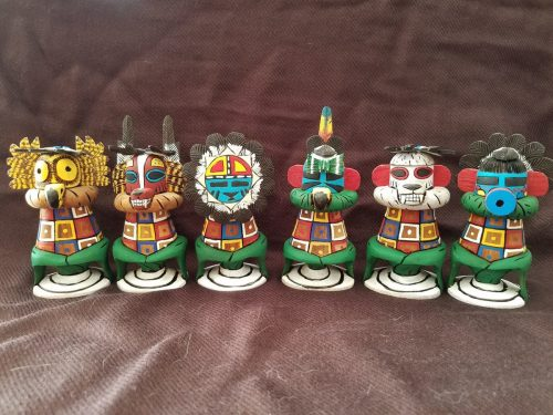 Variety Kachina Corn dolls