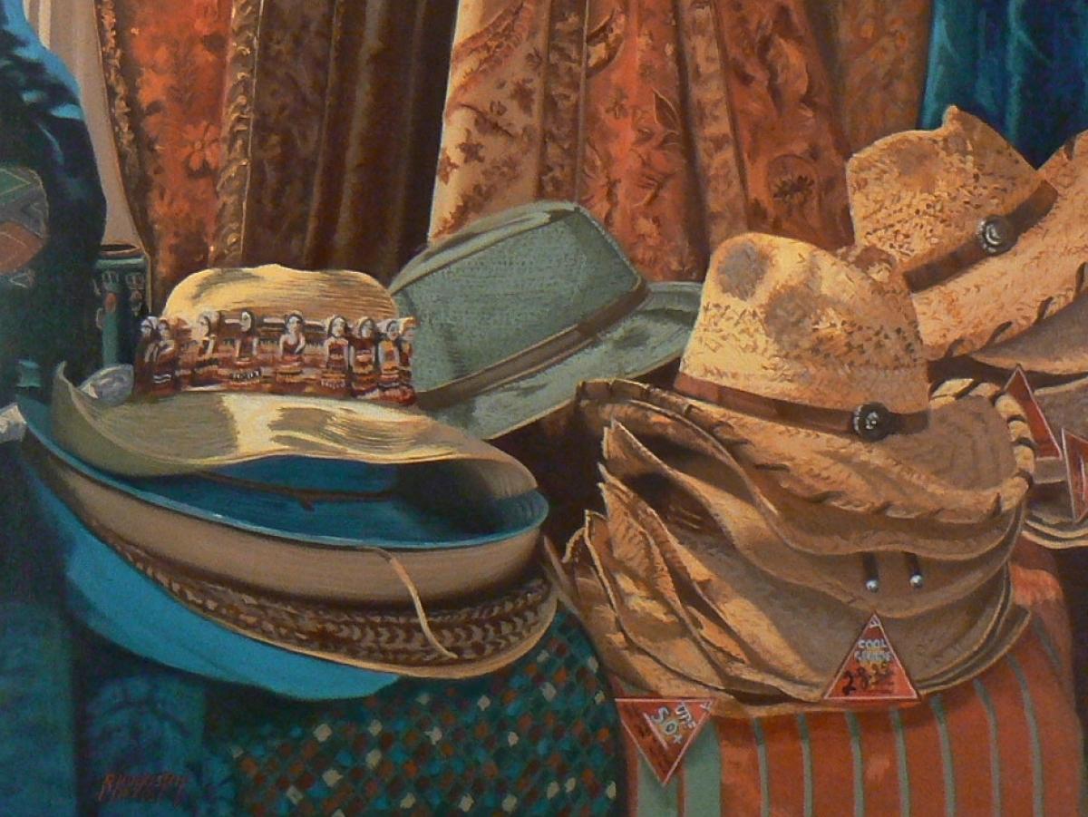 Cowboy hats from Santa Fe (large view)