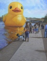 Duck on the Allegheny (thumbnail)
