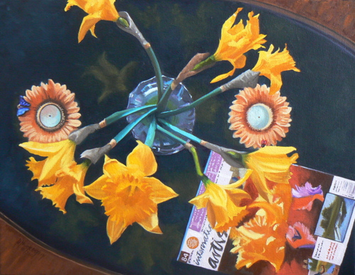 Looking Down on Flowers by Robert Huckestein