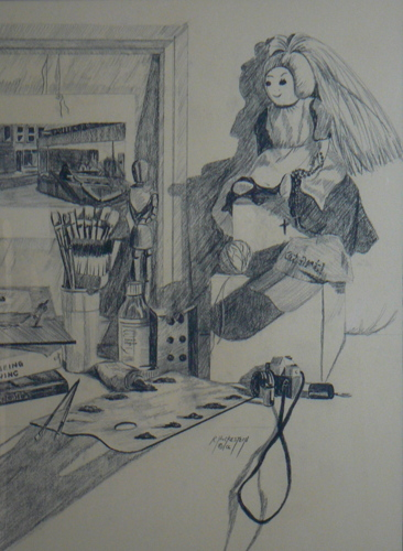 Artist Table Preliminary Drawing