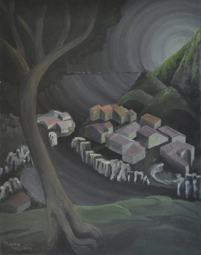 Night Village/Mond