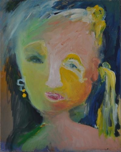 Girl with Yellow Earing