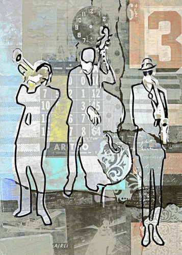 Vintage Jazz Trio by Regina Wyatt