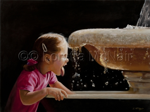 Girl at Fountain of Youth