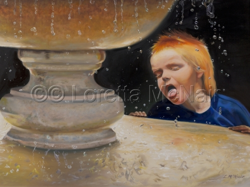 Boy at Fountain of Youth (large view)