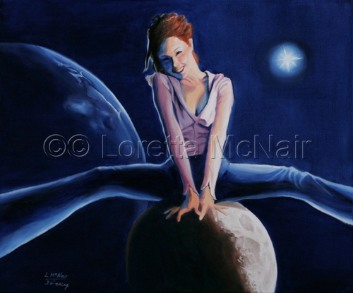 Goddess on the Moon by Loretta McNair
