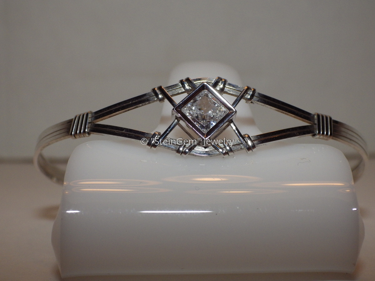 Silver CZ Bracelet (large view)
