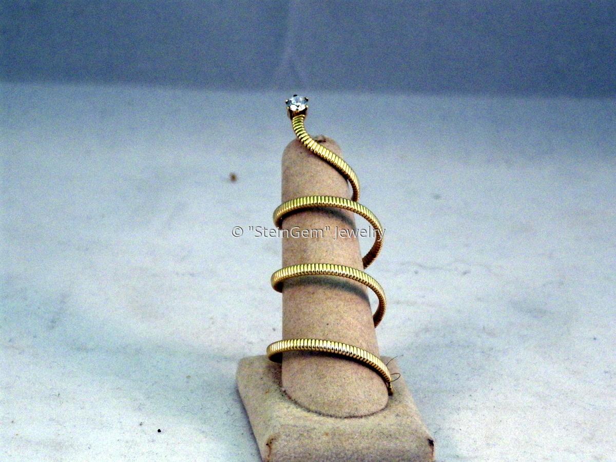 14 Kt Gold Filled Snake Ring (large view)