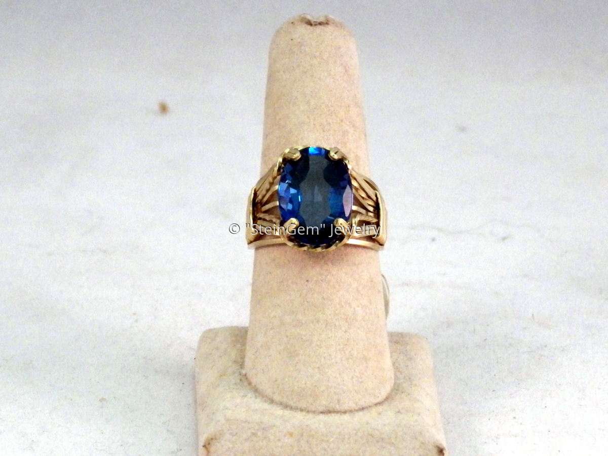 Blue Topaz Ring (large view)
