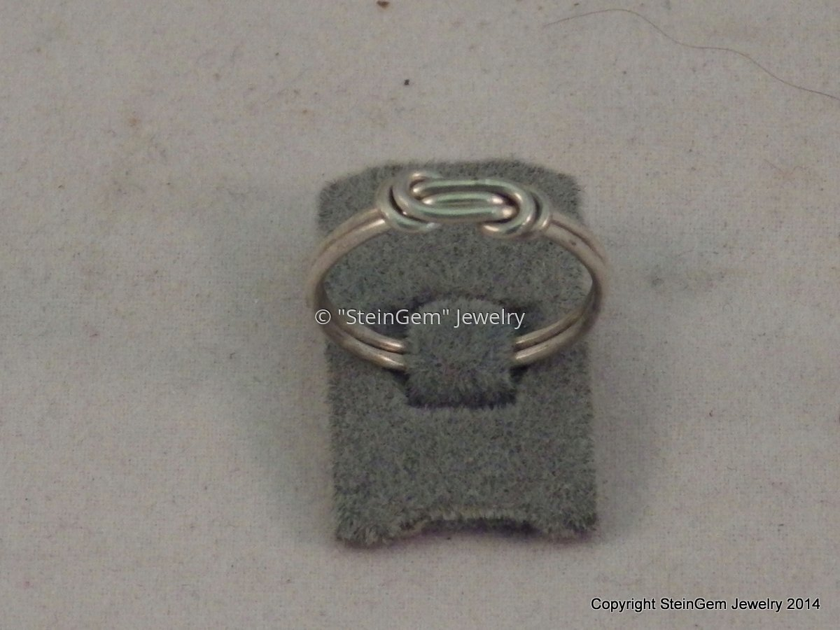 Sterling Silver Wire Knot Ring (large view)