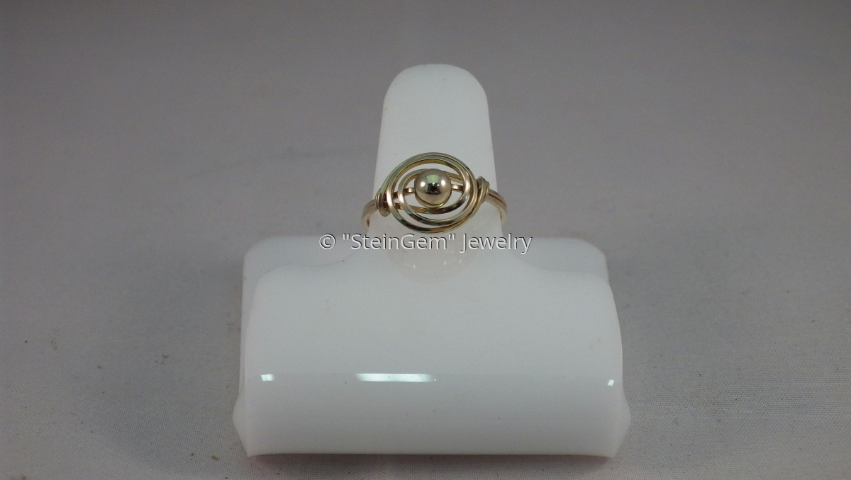 14kt Gold Filled Bead Ring (large view)