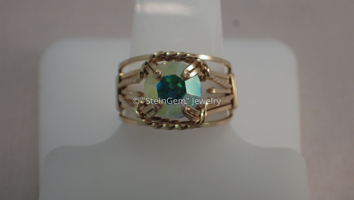 Crystal AB Prong Ring (large view)