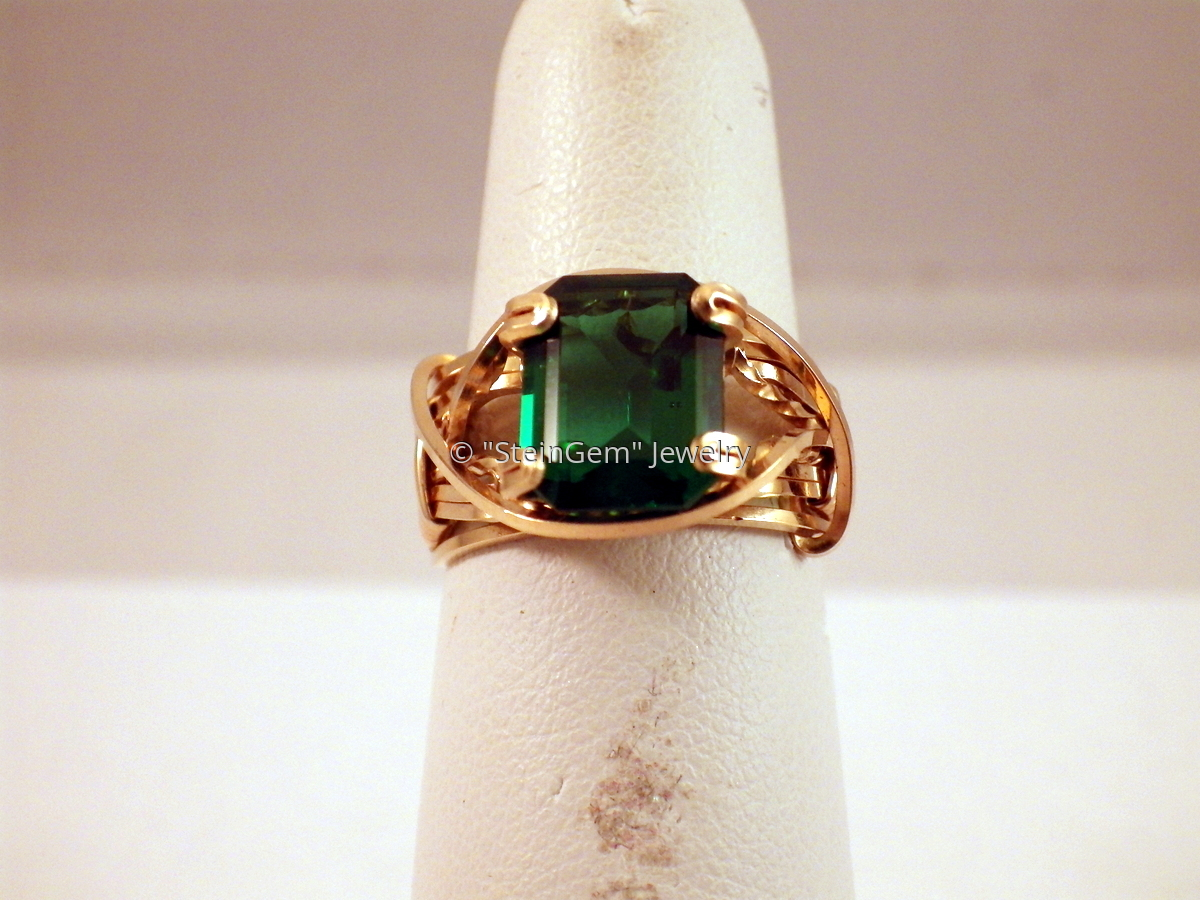 Green Obsidian Ring (large view)