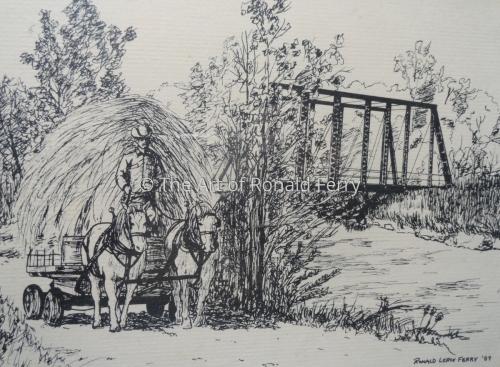 David, His Belgians and the Old Wildwood Bridge
