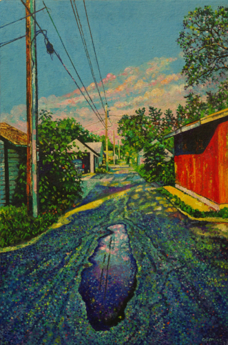 Alley Puddle by Robert Gehrke
