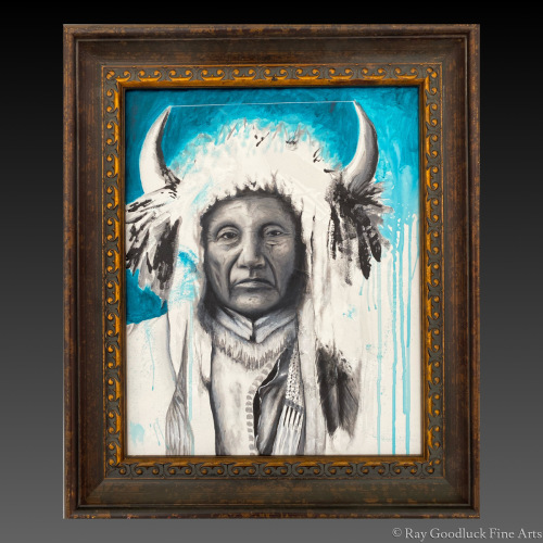 """"""" Chief Little Horse """" by Ray Goodluck Fine Arts"""