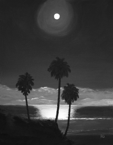 Three Palms Supermoon at Solana Beach