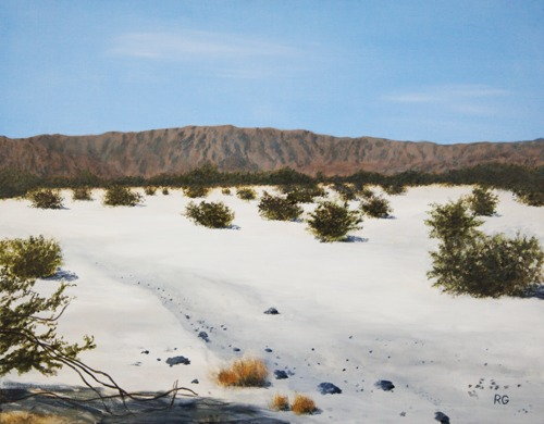 Little San Bernardino Mountains View from Palm Desert by Ray Guichard