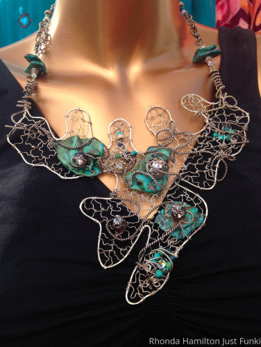 Sterling Silver Smoky Quartz and Turquoise Necklace