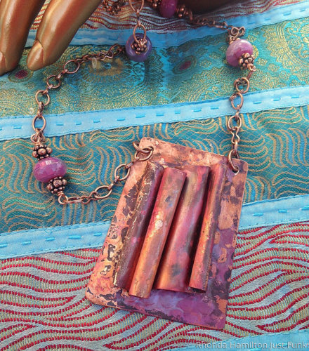 Copper Patina Agate Necklace