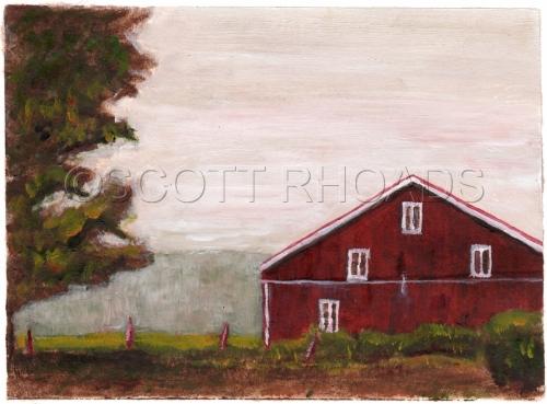 farm on the PA turnpike  by SCOTT RHOADS