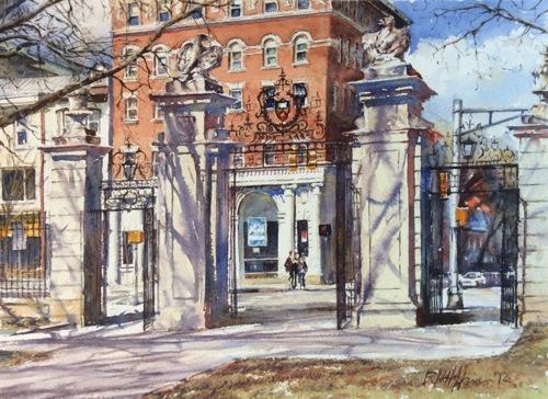 FitzRandolph Gates by Richard Hoffman