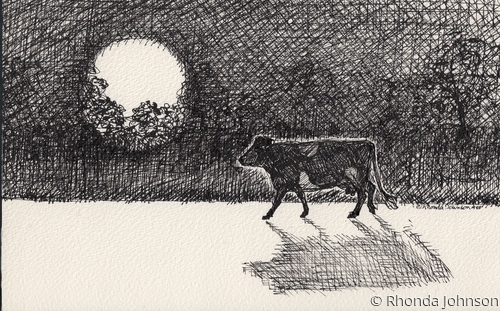 The Cow and Moon (large view)
