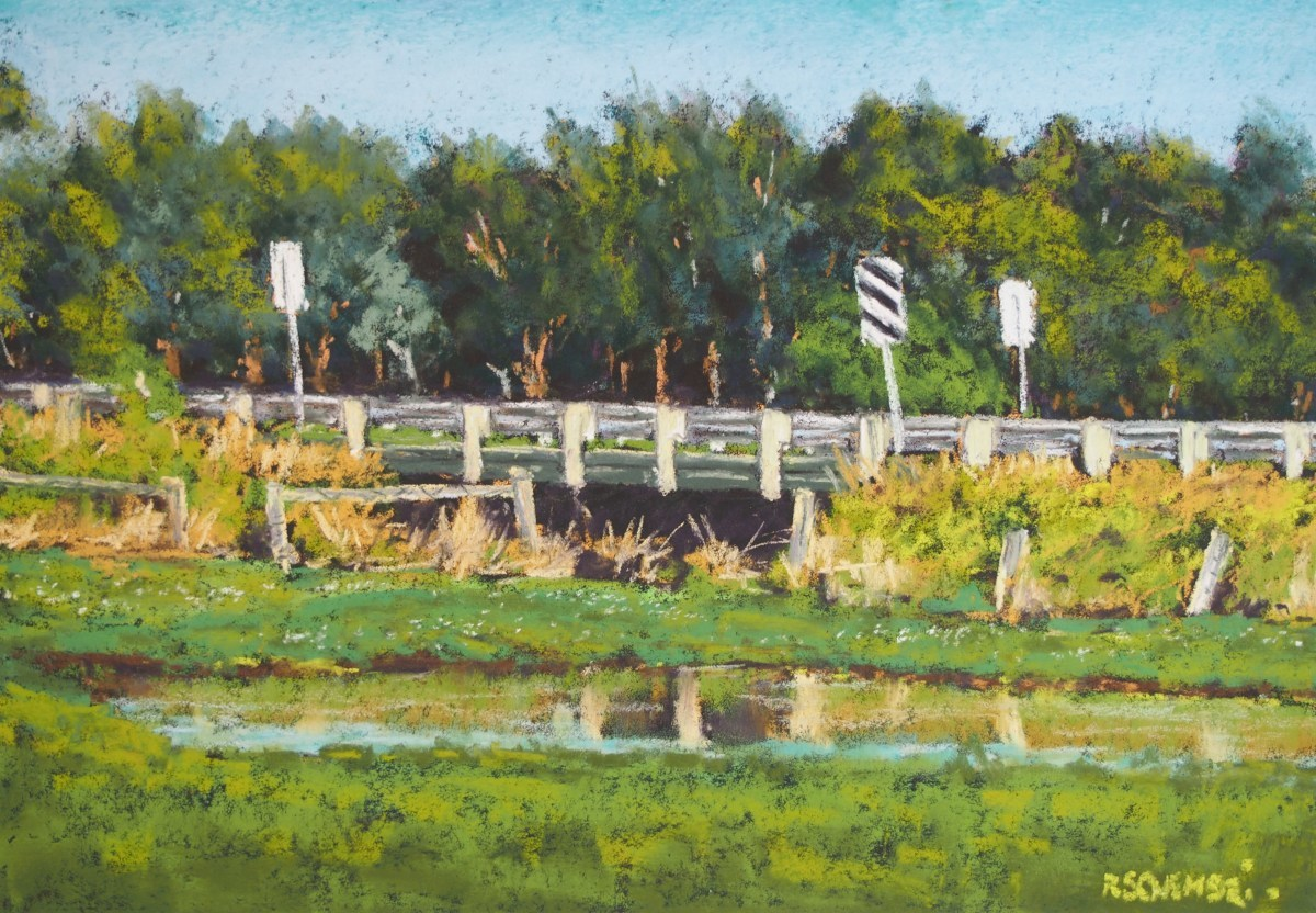 """Bridge behind the frog pond - Koroit"" (large view)"