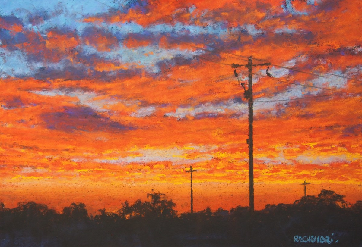 """Sky on fire no.2."" (large view)"