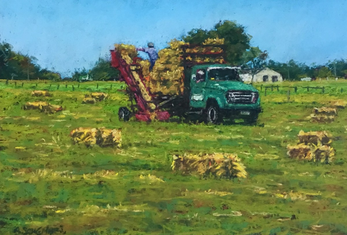 """Hay Carting"" (large view)"