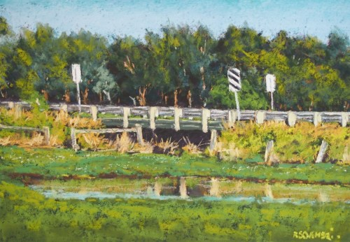 """Bridge behind the frog pond - Koroit"""