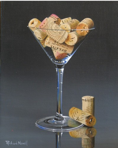 Corks in Martini Glass