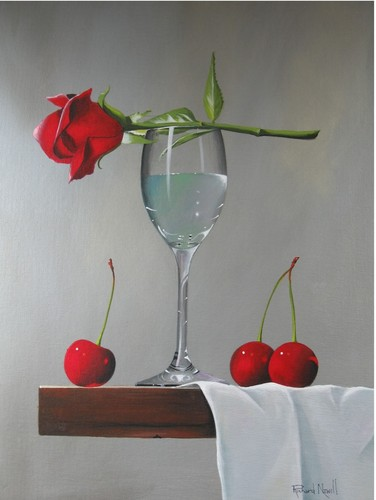 Rose with Cherries