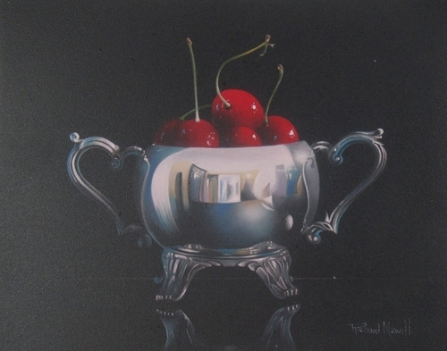 CHERRIES WITH SUGAR BOWL